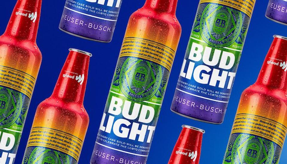 bud light rainbow bottles