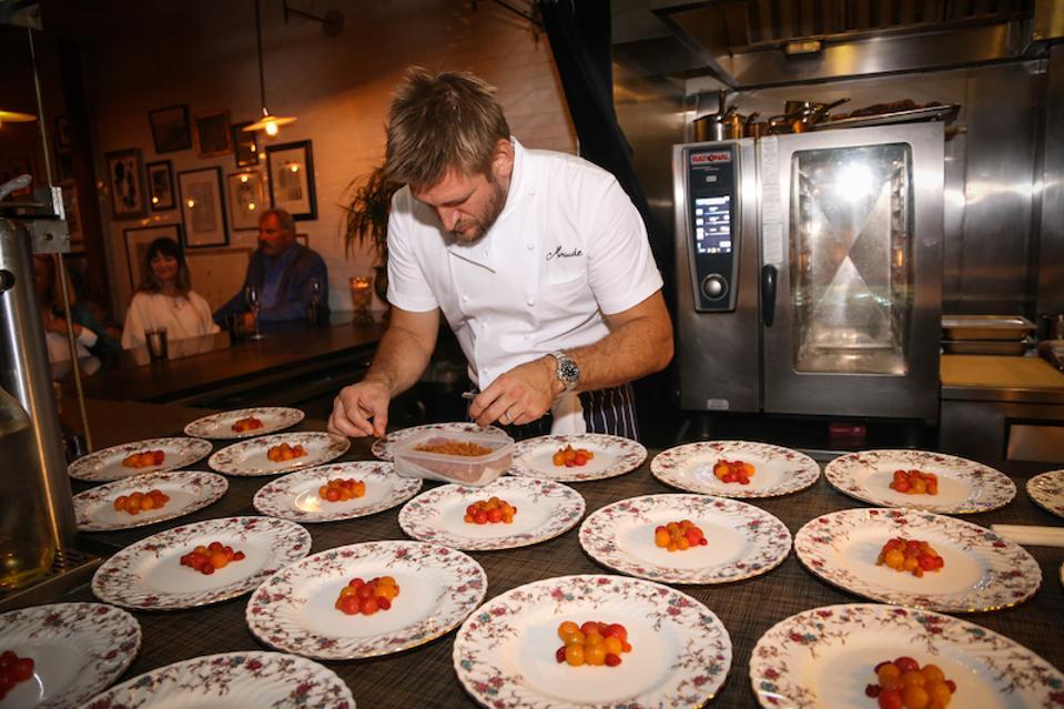 curtis stone, maude la, maude restaurant, champagne bollinger, la grande annee 2008, chef