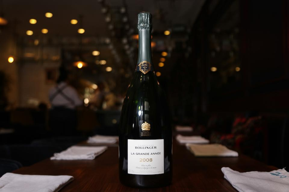 magnum, champagne, Bollinger, La Grande Annee 2008, Champagne Bollinger, maude la, bottle