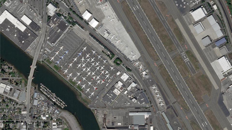 737 MAX Boeing Field