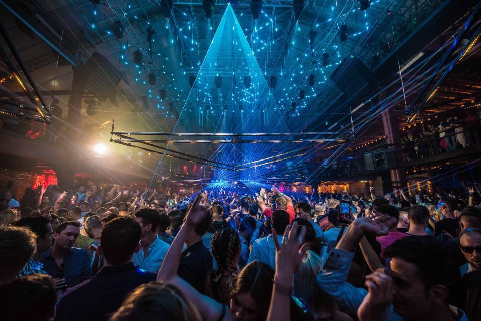 Pyramid party at Amnesia.