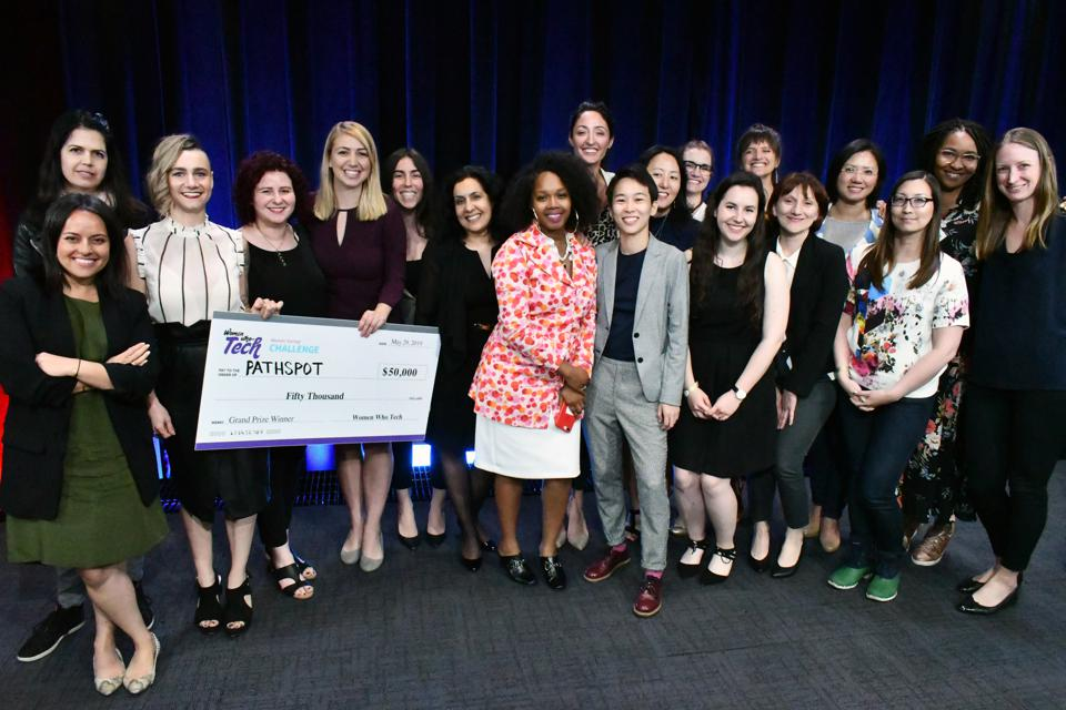The jury and finalists of the Women Startup Challenge at Google in New York City on May 29, 2019.