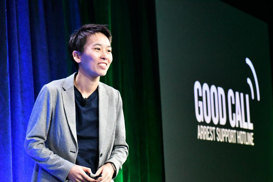 Stephanie Yim, founder of Good Call, won the Audience Choice Award at the Women Startup Challenge at Google in New York City on May 29, 2019.
