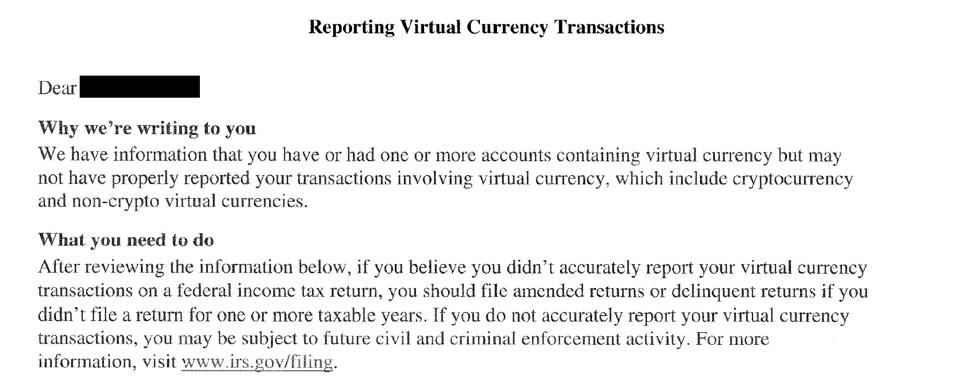 Excerpt from IRS Letter 6174-A