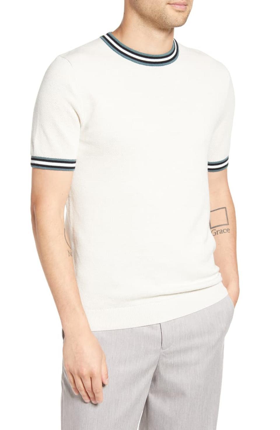 Topman Tipped Piqué T-Shirt