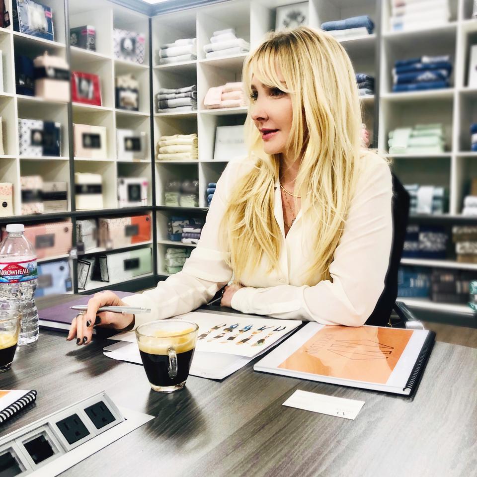 Lund working at desk.