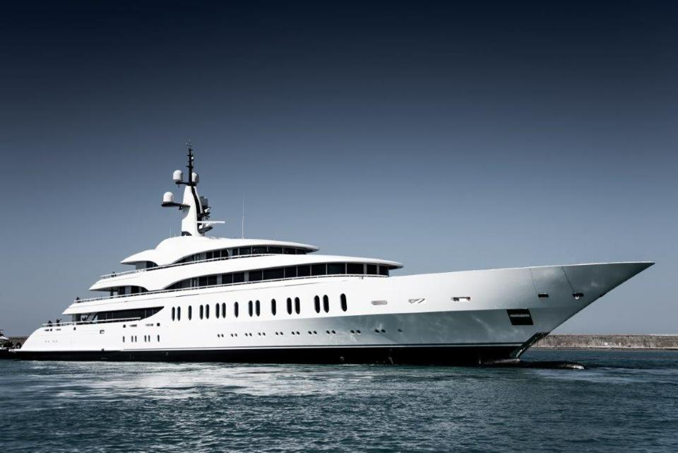 Look at the people on deck to get an idea of how big Benetti's new superyacht is.