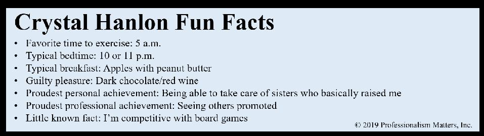 Crystal Hanlon Fun Facts