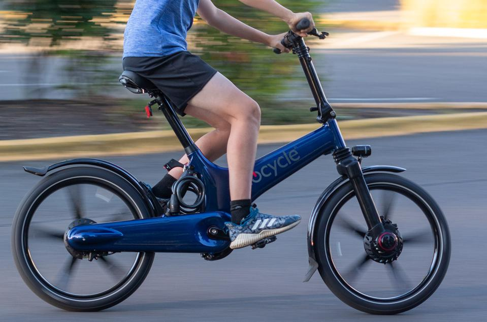 The GoCycle G3 is a lightweight, foldable, pedal-assist electric bike than can be quickly adjusted to fit a wide range of riders.
