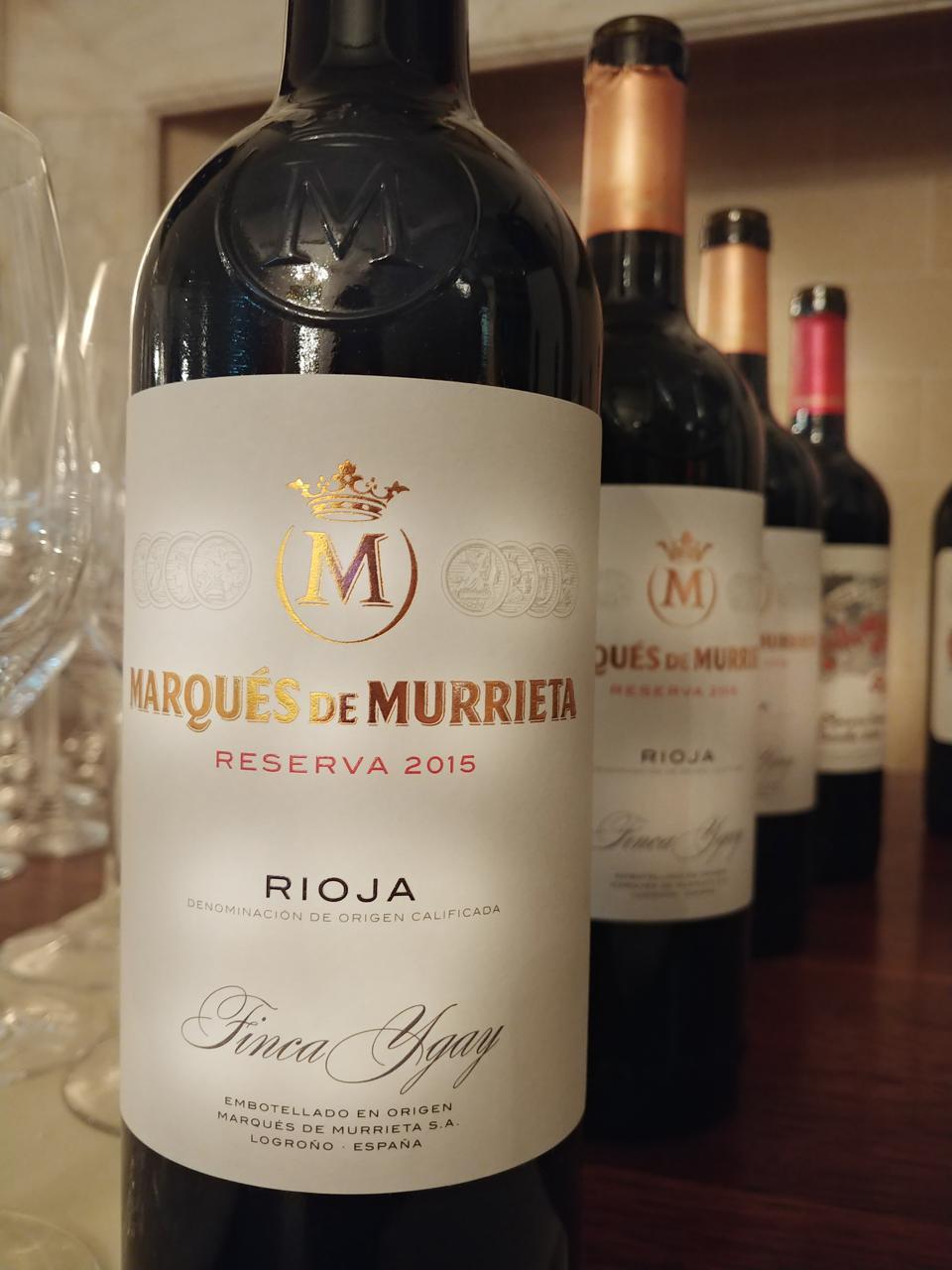 2015 Marqués de Murrieta, Reserva, Rioja Alta, Spain