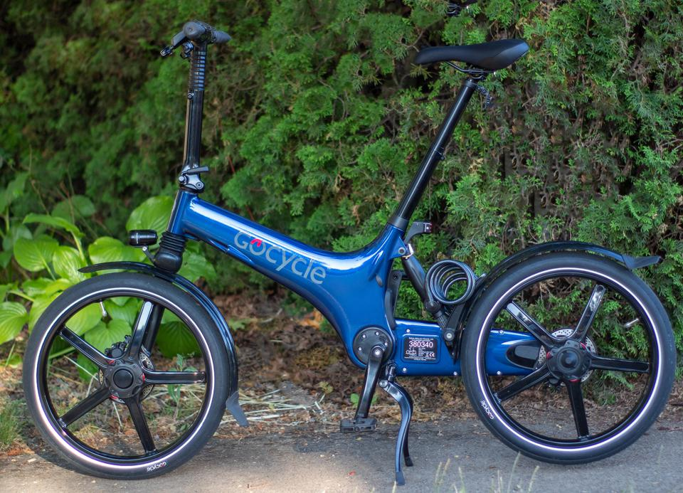 The GoCycle G3 in blue.