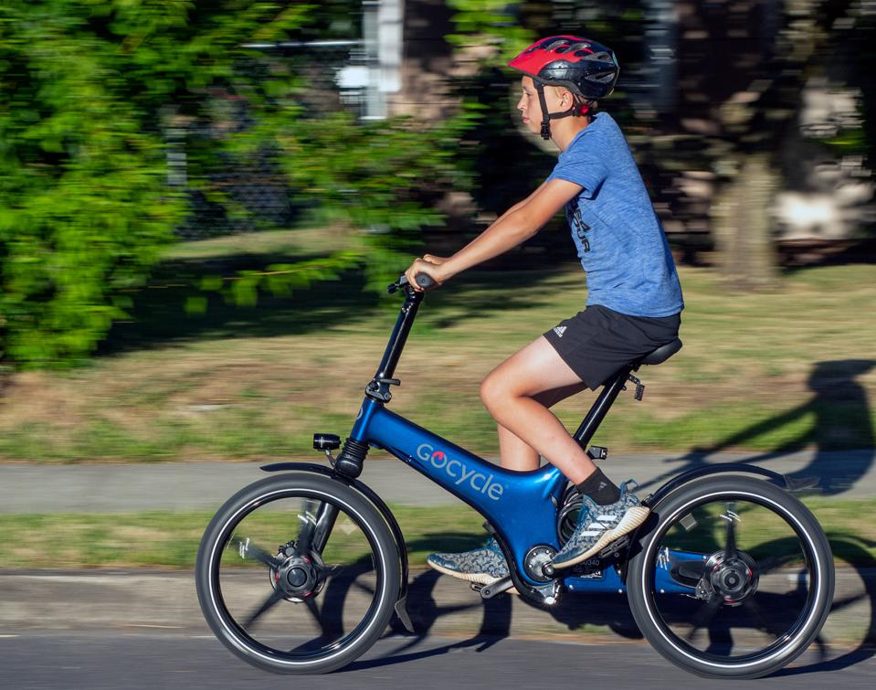 The GoCycle G3 is easy to adjust for a wide range of riders.