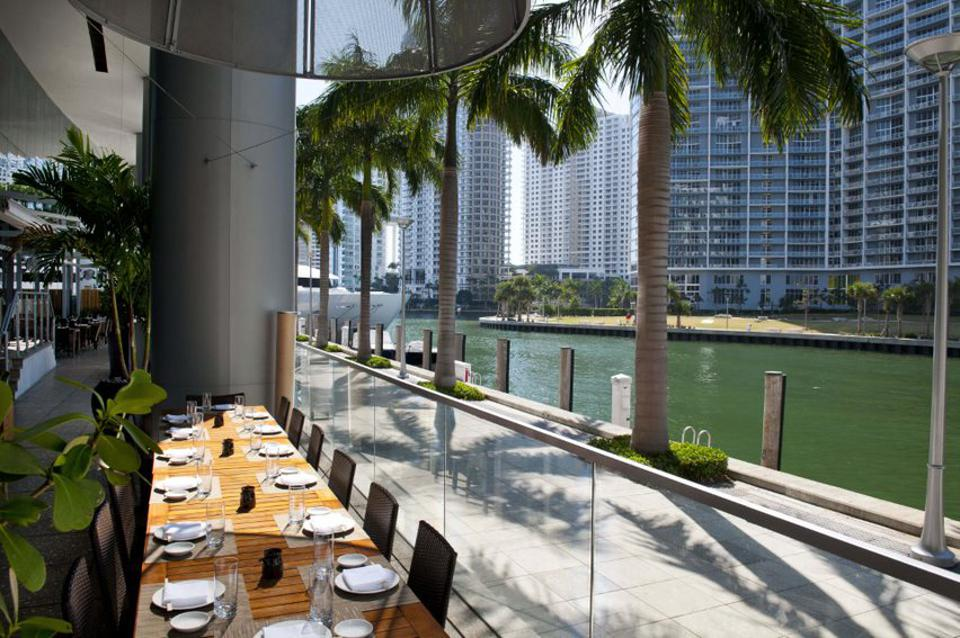 Japanese restaurant on Miami River waterfront.