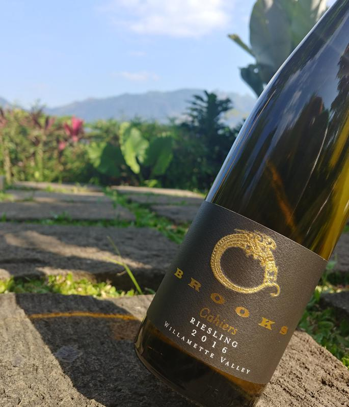 2016 Brooks Cahiers Riesling, Willamette Valley, Oregon in Borobudur, Indonesia