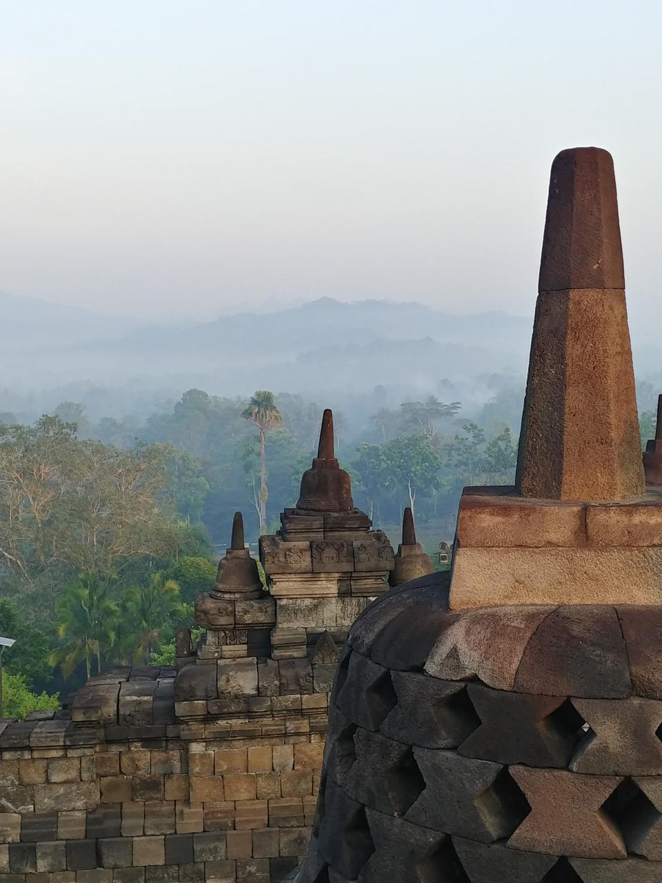 Mist Coming into Borobudur