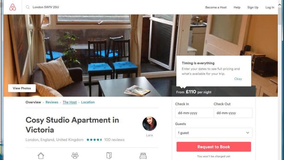 Airbnb illegal posting.