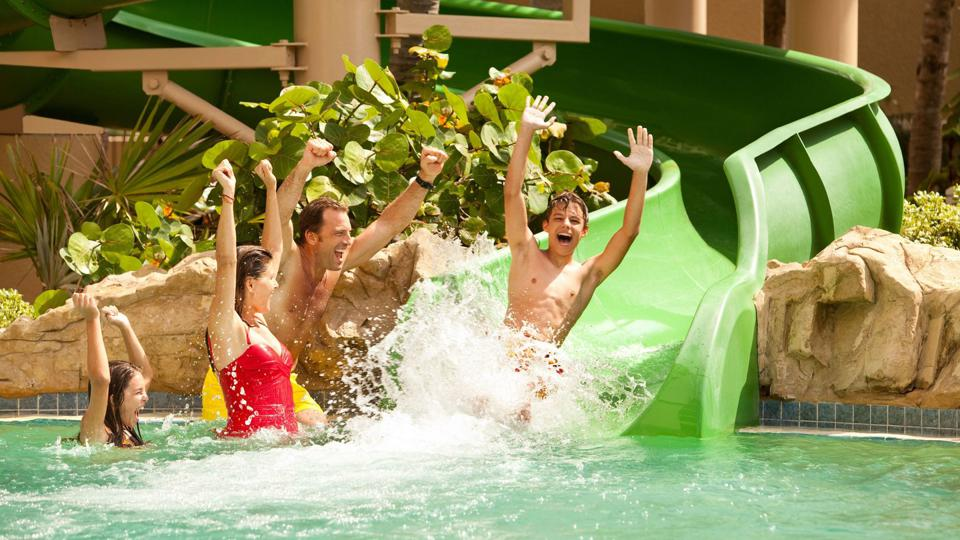 The water slide at Palm Beach Marriott Singer Island.