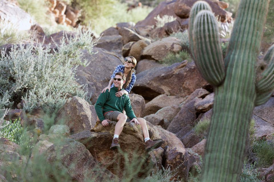 Guests explore the outdoors at Sanctuary on Camelback Mountain Resort.