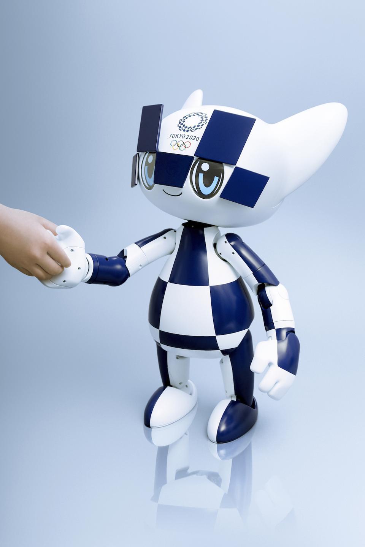 The Tokyo 2020 Miraitowa mascot robotdesigned by Toyota