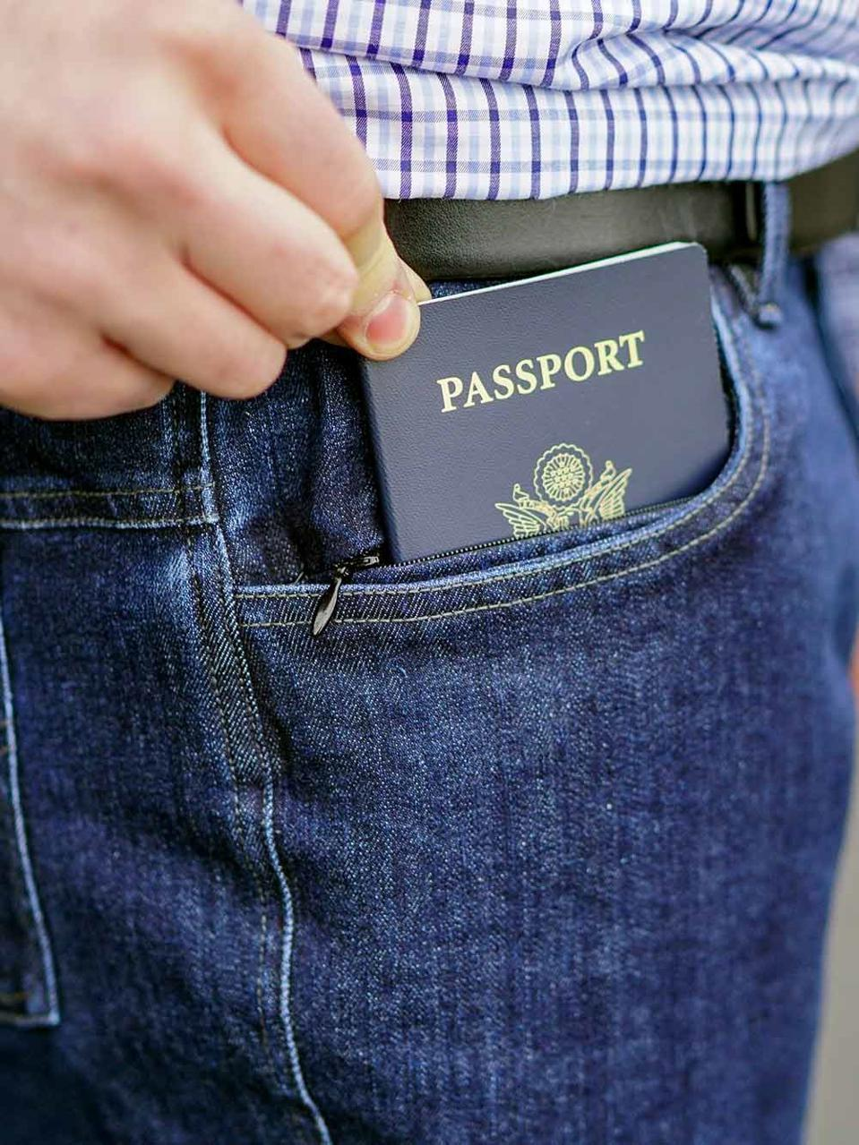 their Pick-Pocket Proof® Explorer Travel Jeans