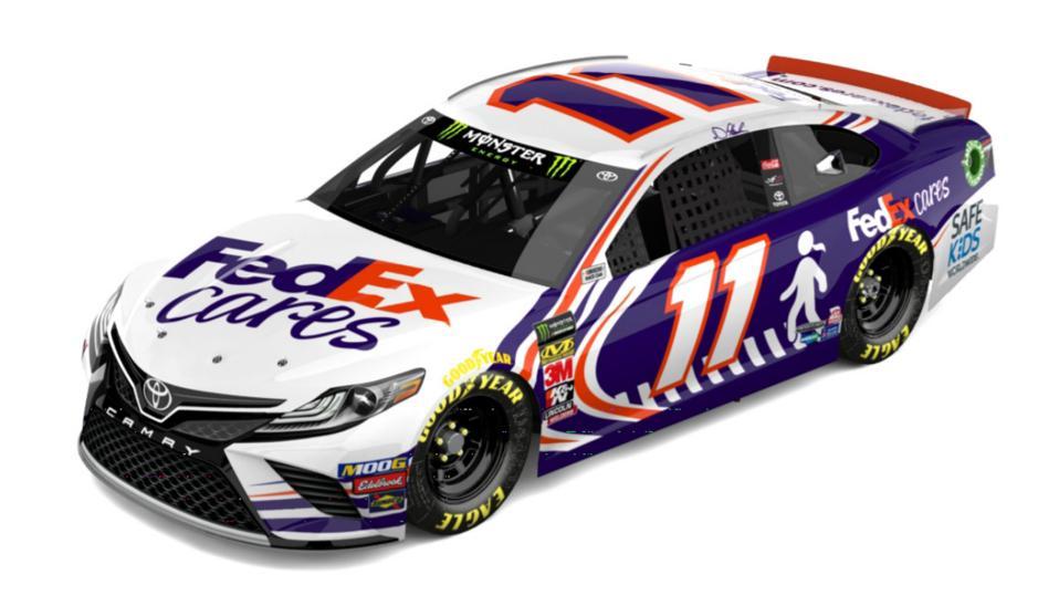 Denny Hamlin's FedEx Cares car, for Watkins Glen
