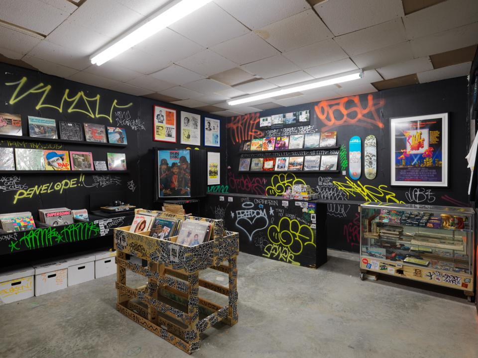 Trashed Records installation, BEYOND THE STREETS