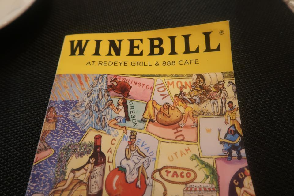 Winebill at Red Eye Grill
