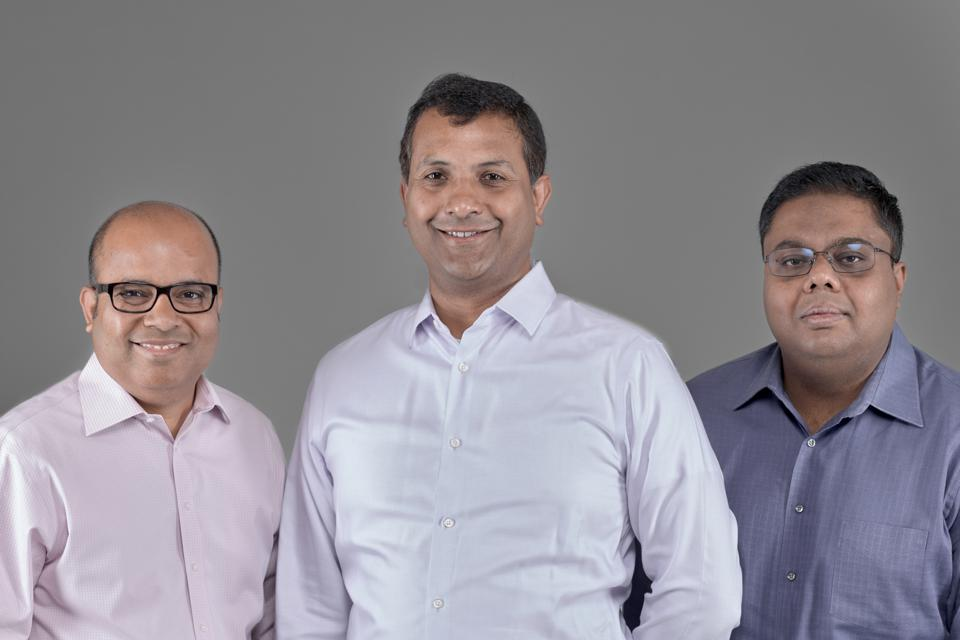 Cofounder Bipul Sinha, CEO Abhijit Ghosh, and Cheif Architect Niloy Mukherjee (from left)