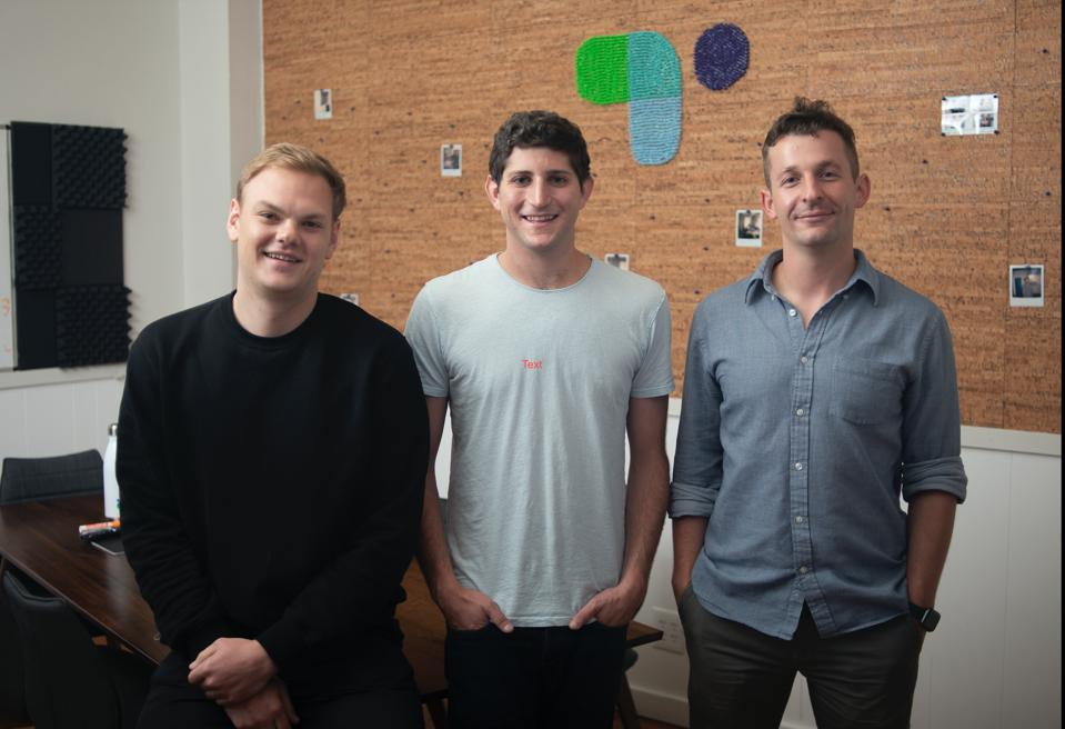 Ethan Winchell COO, Ryan Sandler CEO, and Victor Kabdebon CTO (from left)