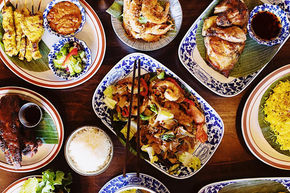 Table of dishes from Chao Krung