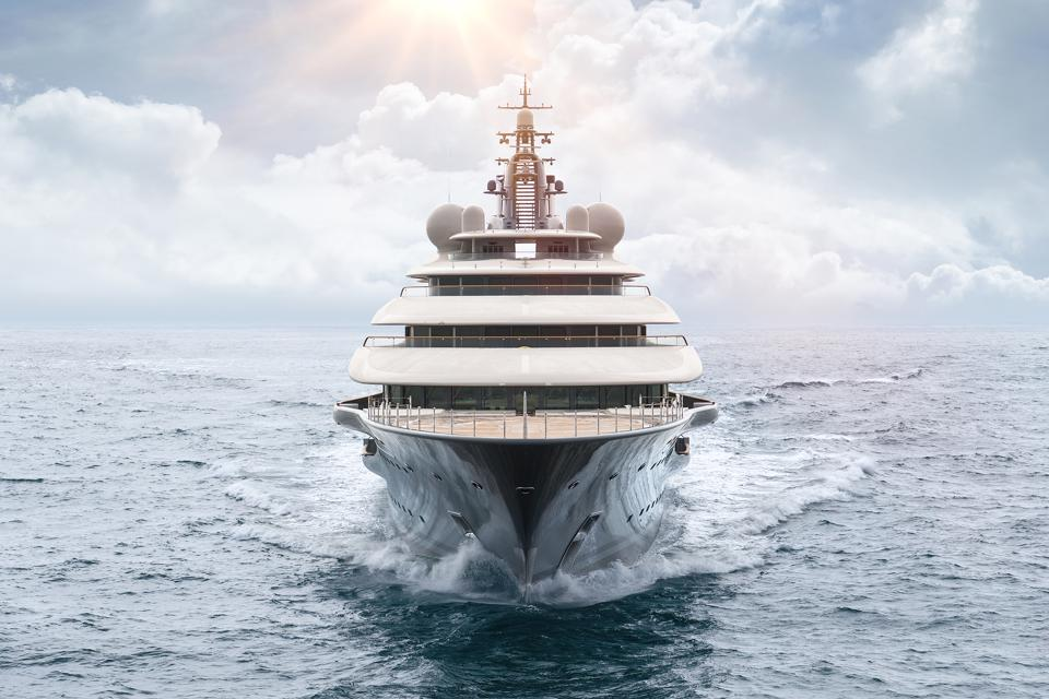 The first photo of Flying Fox, the massive, 450-foot-long superyacht