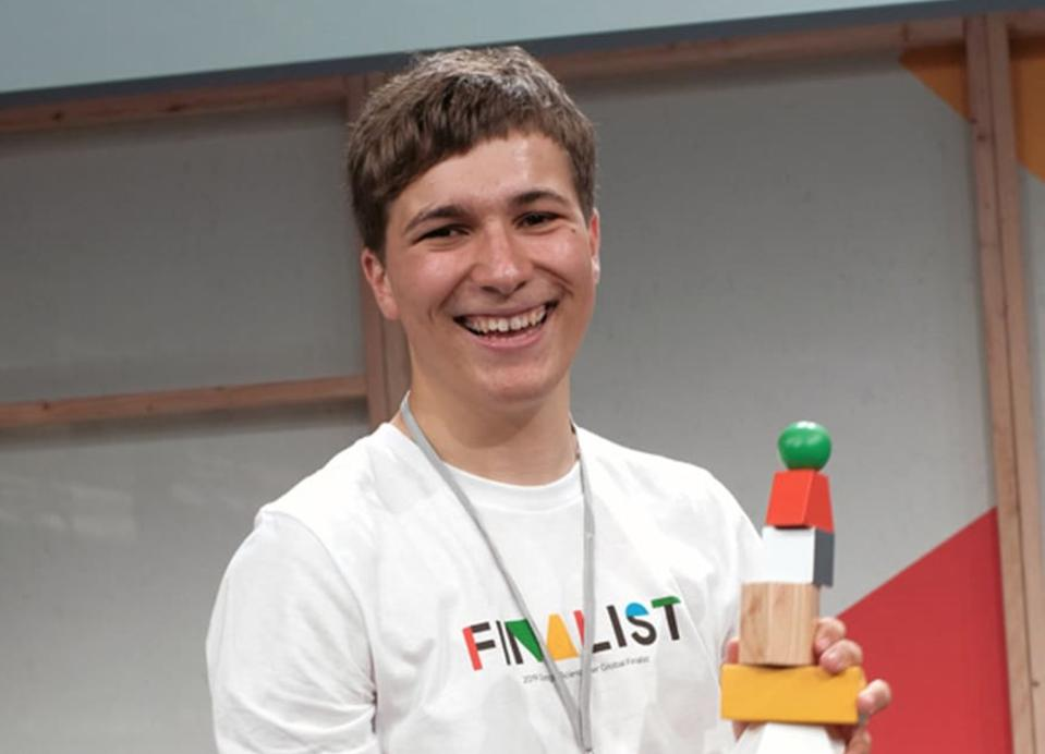 Fionn Ferreira was the winner of the 2019 Google Science Fair