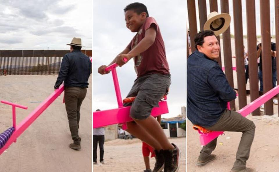 Ronald Rael and Virginia San Fratello installed temporary ″Teeter-Totter Wall″ on the US-Mexico border