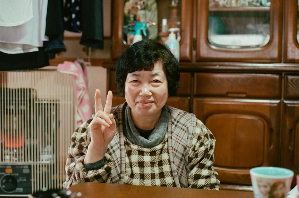 Tomio Haga, 66, pictured in her home in Shionohara