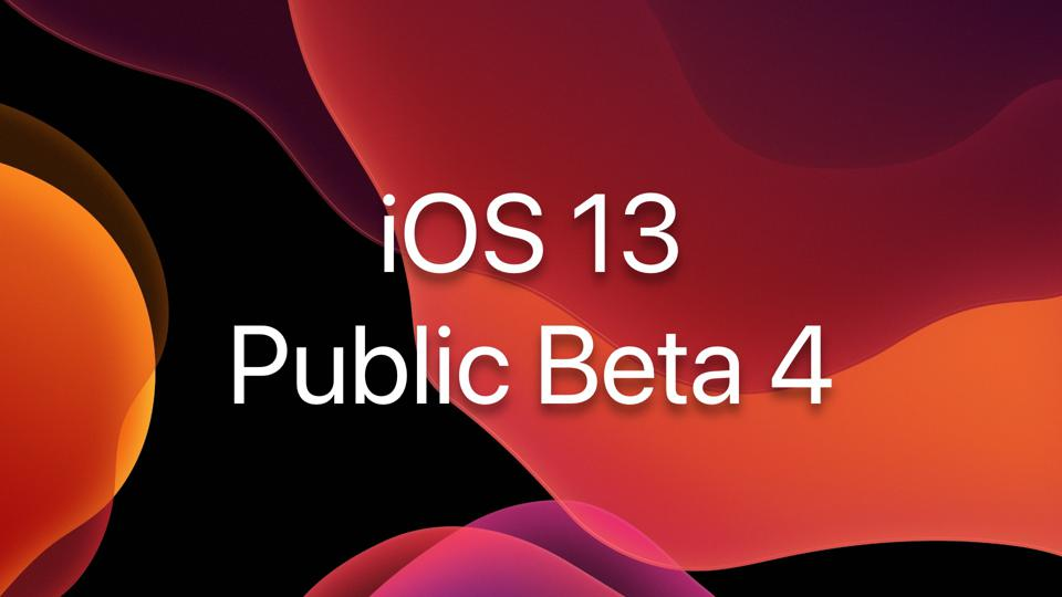 iOS 13 Public Beta 4