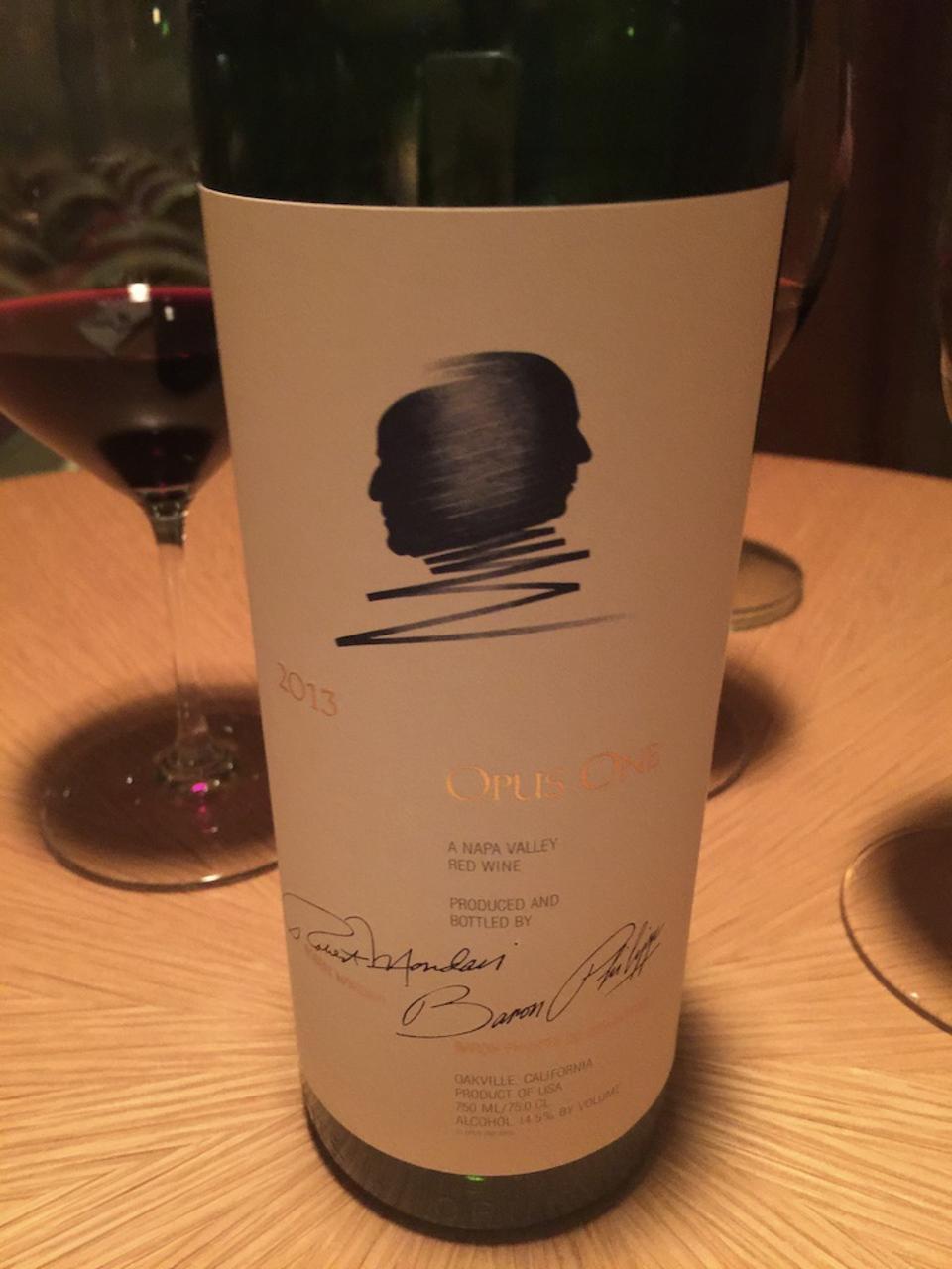 Bottle of Opus One