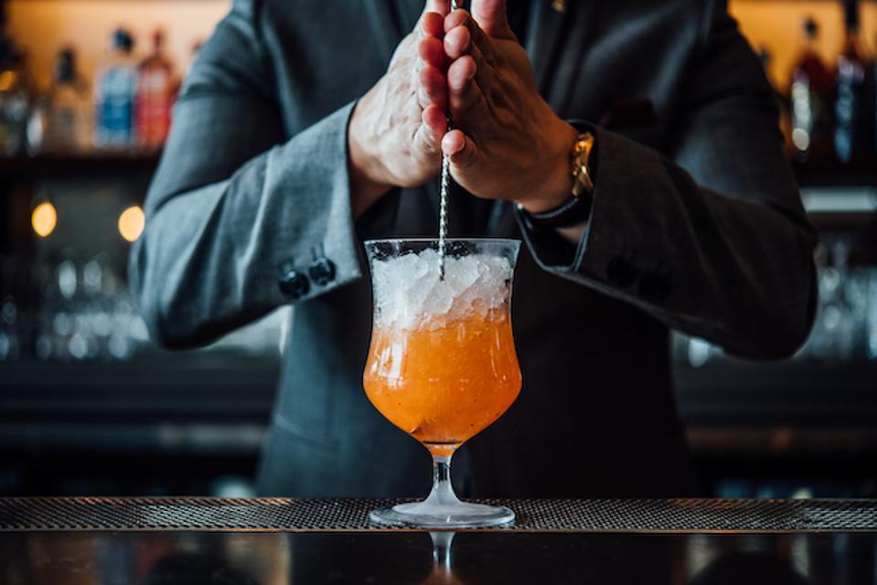 Saffron cocktail