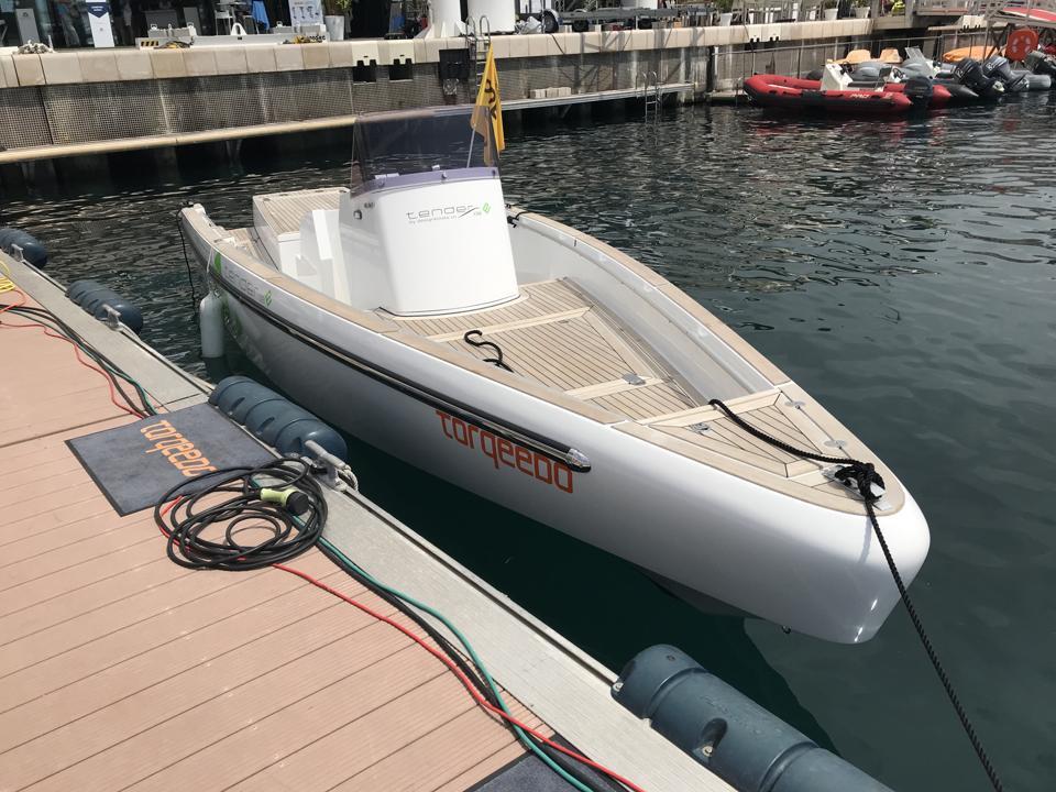 Torqeedo Electric Boat in Monaco.