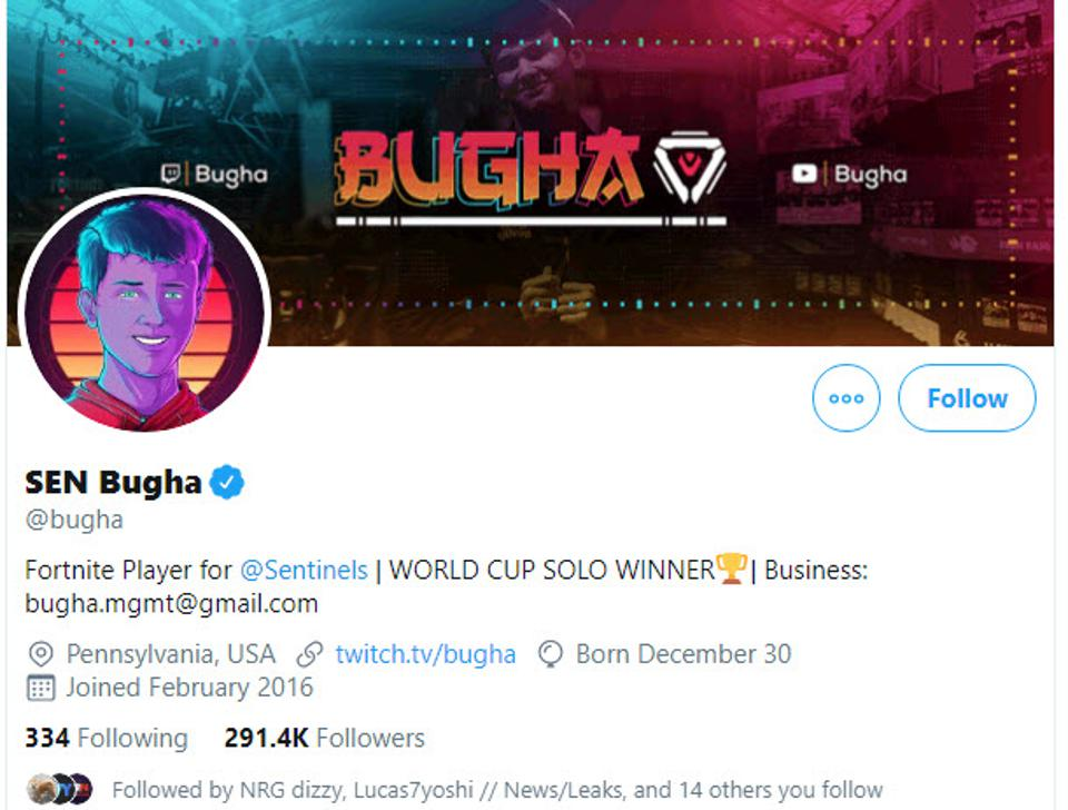 Bugha's Bonus 'Fortnite' World Cup Prizes: 350,000 YouTube Subs