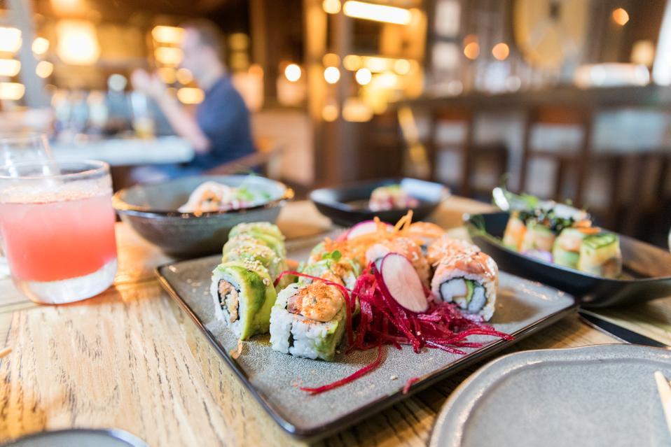 Sushi at Mura House