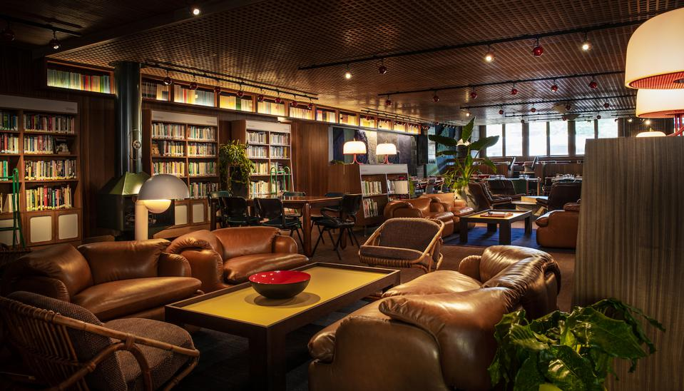 The Standard Hotel in London's Library bar.