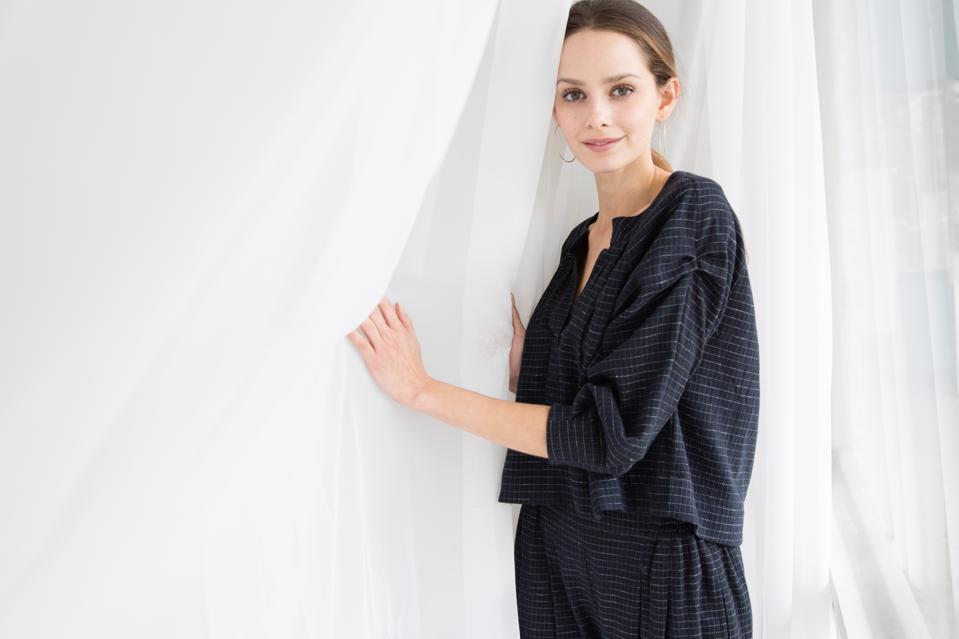 Woman wearing sustainable fashion