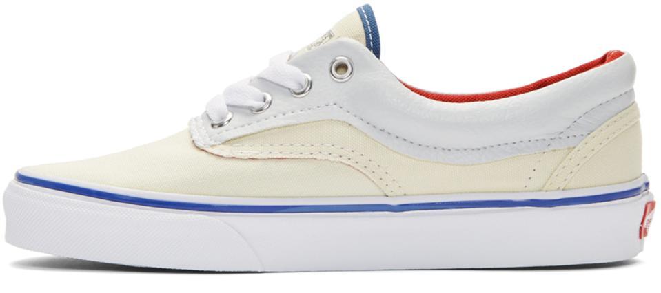 Vans Blanc Cassé & Marine Extérieures Dans Sneakers