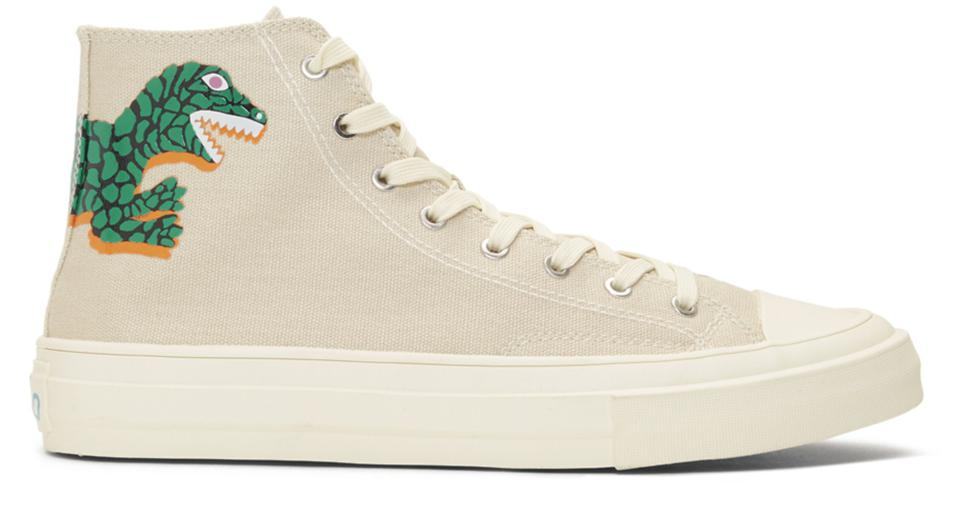 PS by Paul Smith Off-White Kirk Green Dino Sneakers