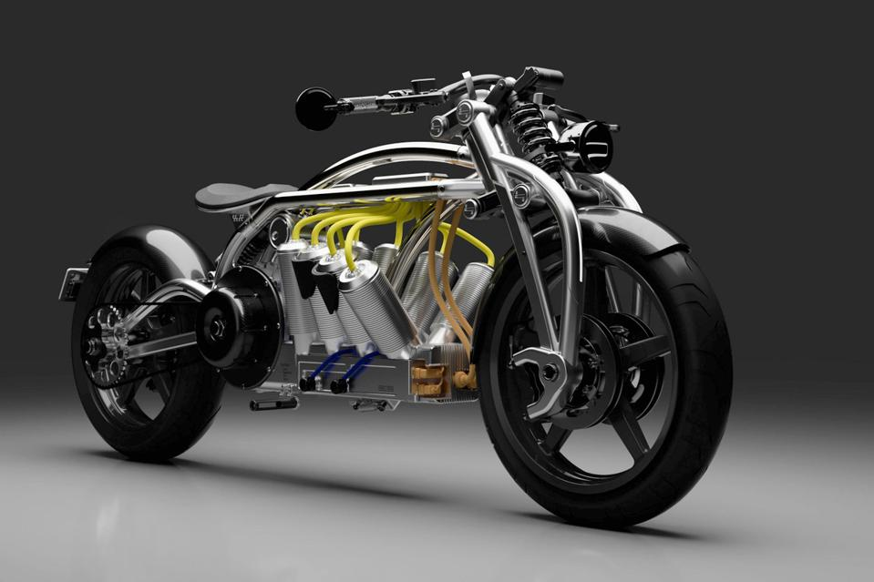 The Curtiss Zeus electric motorcycle