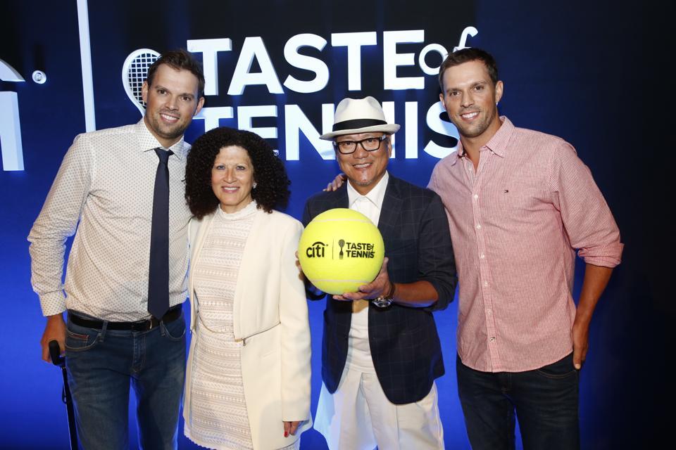 Attendees Bob Bryan, Michele Imbasciani, Chef Morimoto, Mike Bryan.