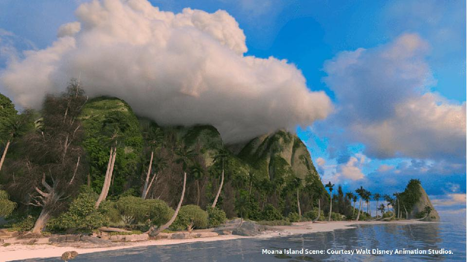 Mona Island Scene - Walt Disney Animation Studios