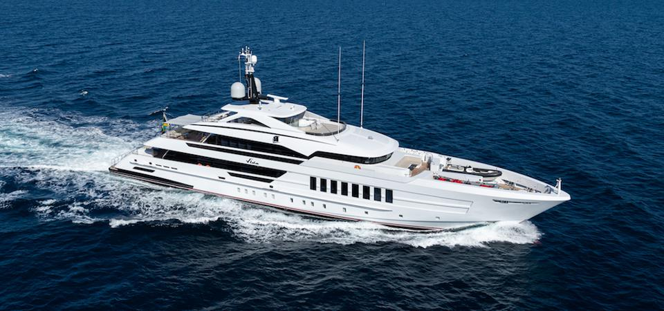 Exclusive photo of the 180-foot-long Heesen built for an American Fishing Champion