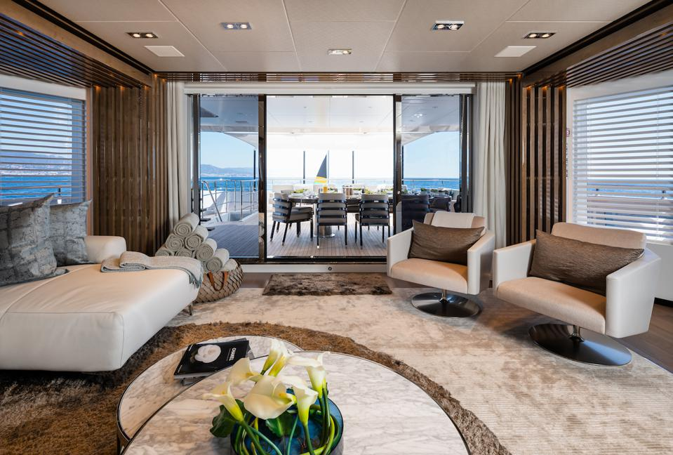 Exclusive photo of the interior of the 180-foot-long Heesen Yacht Vida.