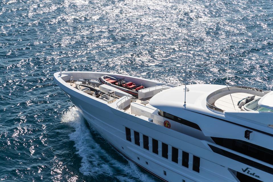 Exclusive aerial photo of Heesen's 180-foot superyacht Vida.